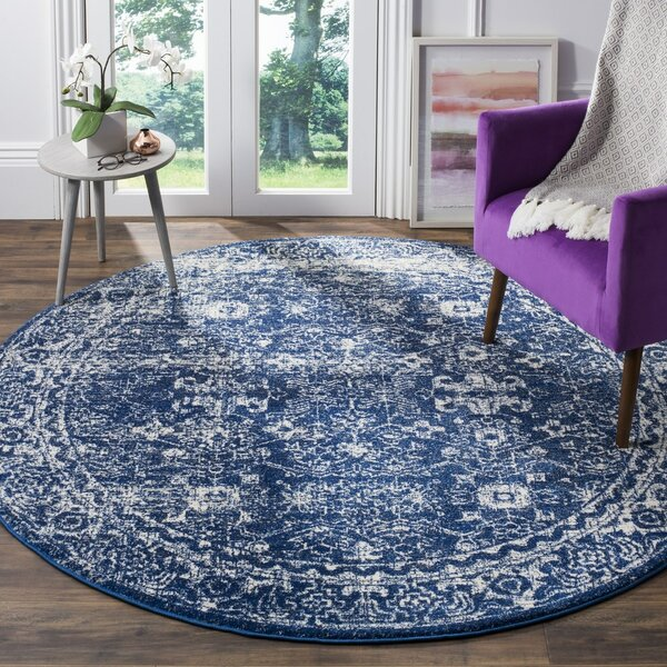 Esperance Blue/Beige Area Rug by Ophelia & Co.