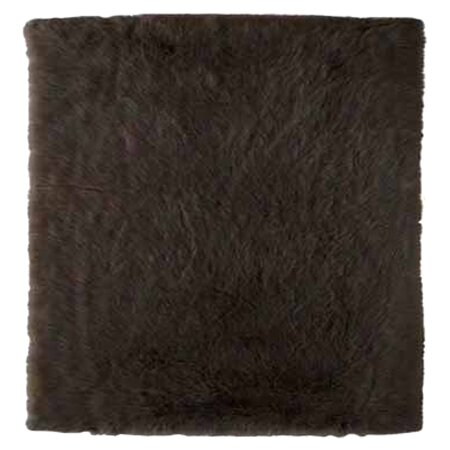 Samantha Hand-Tufted Faux Sheepskin Brown Area Rug by Threadbind