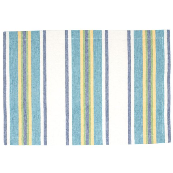 Hutchinson Cotton Striped Placemat (Set of 6) by Rosecliff Heights