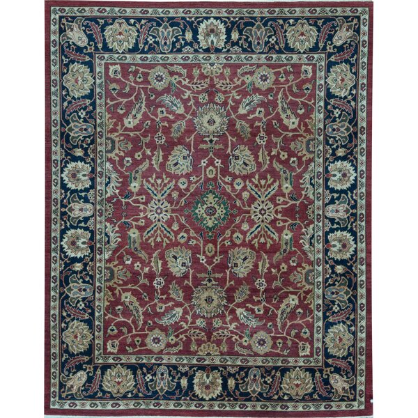 Sultanabad Oriental Hand-Knotted Wool Black/Red Area Rug