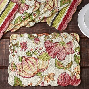 Charmant Stanmore Quilted Placemats (Set Of 6)