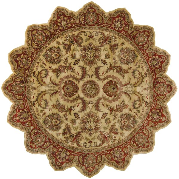 Garrison Gold/Red Area Rug by Astoria Grand