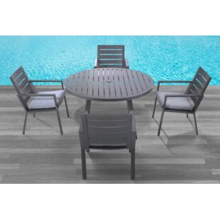 Moralez 5 Piece Dining Set with Cushions By Williston Forge