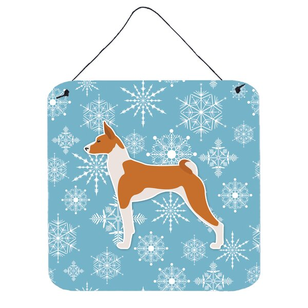 Snowflake Basenji Wall Décor by East Urban Home