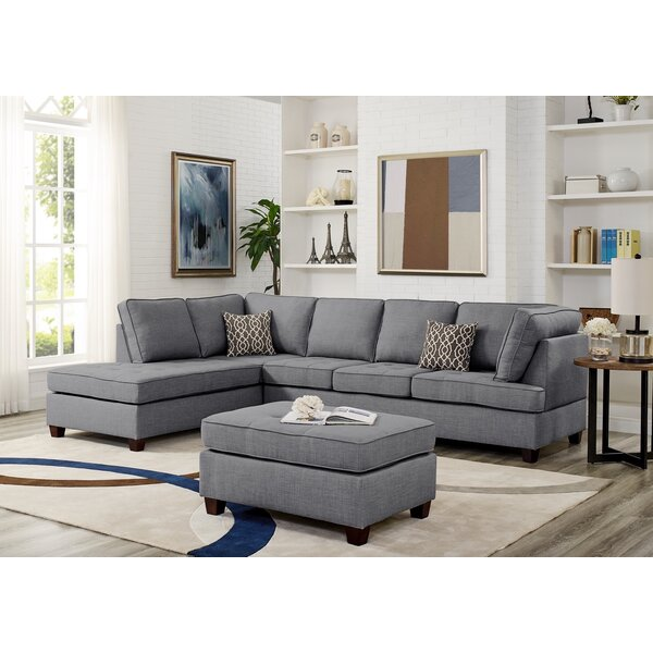 #1 Menefee Reversible Sectional With Ottoman By Latitude Run Spacial Price