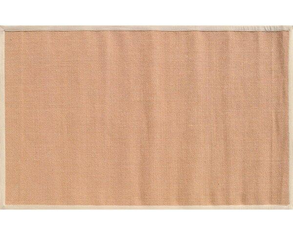 Bethany Hand-Woven Tan/Beige Area Rug by Threadbind