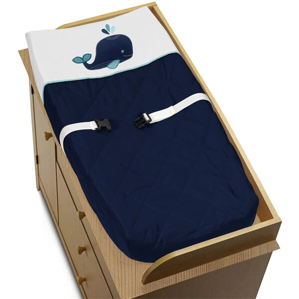 Whale Changing Pad Cover by Sweet Jojo Designs