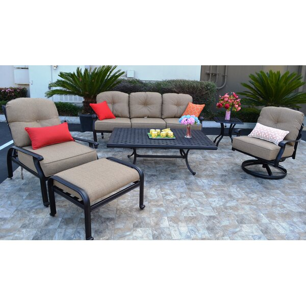 Kristy 6 Piece Sunbrella Sofa Set with Cushions by Darby Home Co