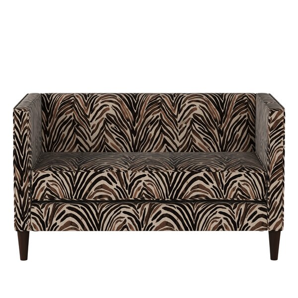 Valuable Today Genevie Five Button Washed Zebra Loveseat by Bloomsbury Market by Bloomsbury Market