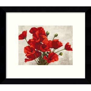 Bouquet of Poppies Framed Painting Print by Red Barrel Studio