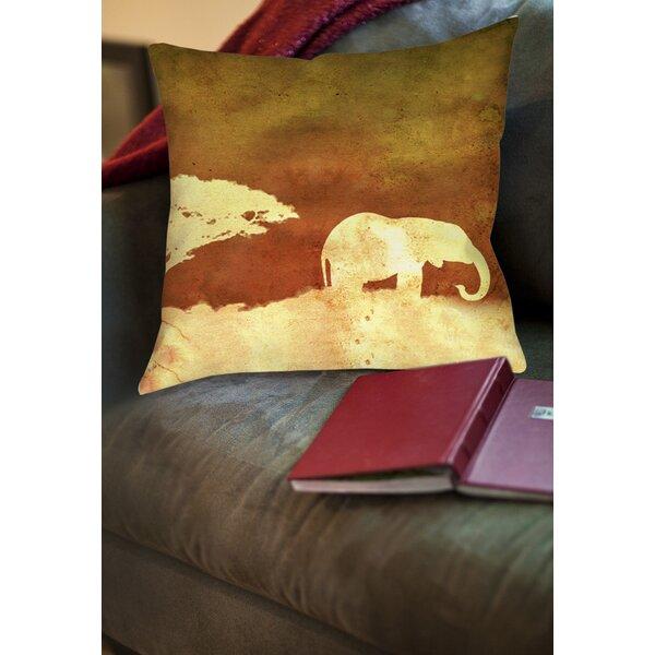 Safari Sunrise 1 Printed Throw Pillow by Manual Woodworkers & Weavers