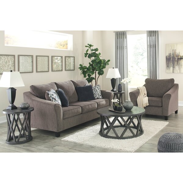 Nemoli 3 Piece Sleeper Configurable Living Room Set by Alcott Hill