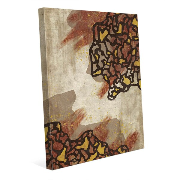 Coagulation Separation Brown Painting Print on Wrapped Canvas by Click Wall Art