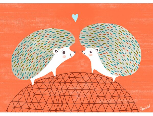 Hedgie Love Canvas Art by Oopsy Daisy