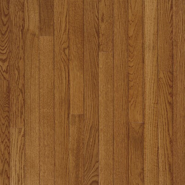 Fulton 2-1/4 Solid White Oak Hardwood Flooring in High Glossy Fawn by Bruce Flooring