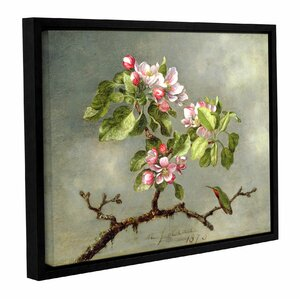 'Apple Blossoms and a Hummingbird' Framed Painting Print on Canvas by Red Barrel Studio