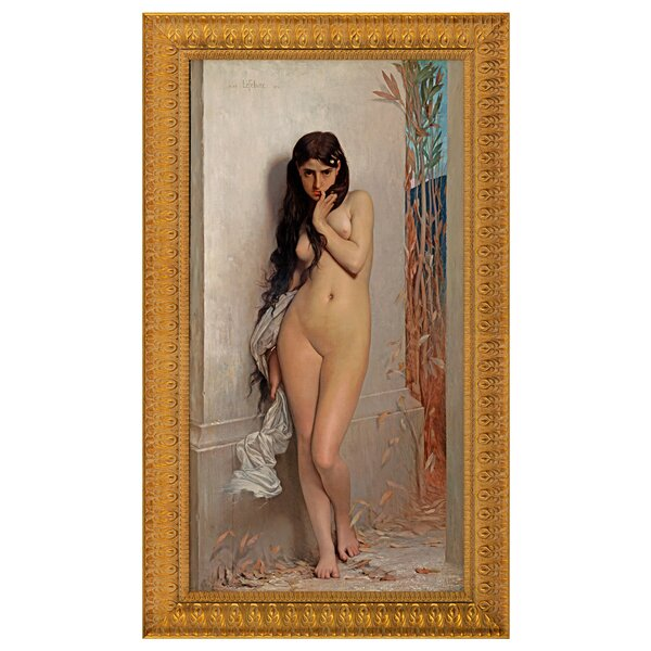 The Cicada, 1872 by Jules Joseph Lefebvre Framed Painting Print by Design Toscano
