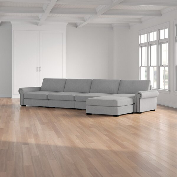 Review Willia Right Hand Facing Modular Sectional With Ottoman