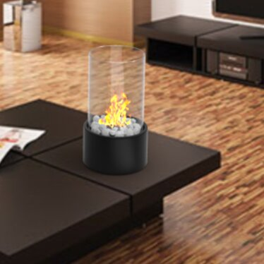 Eden Ventless Portable Bio Ethanol Tabletop Fireplace by Regal Flame