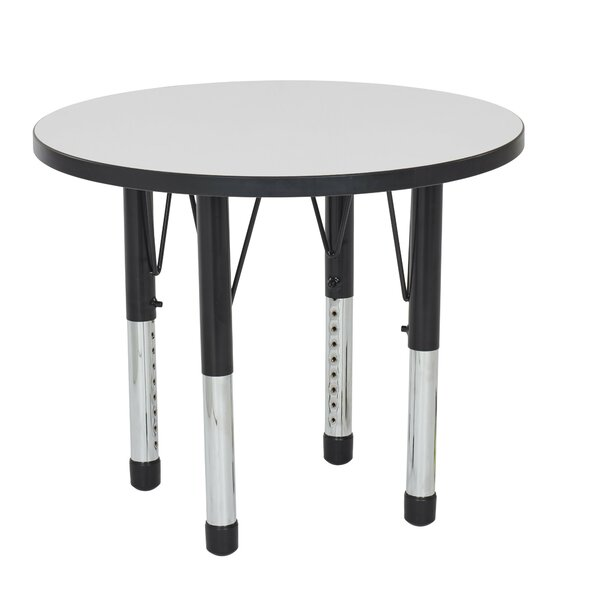 Dry-Erase Adjustable 30 Circular Activity Table by ECR4kids