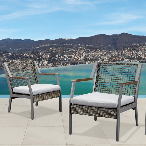 Calvin Patio Chair With Cushion (Set Of 2) By Real Flame