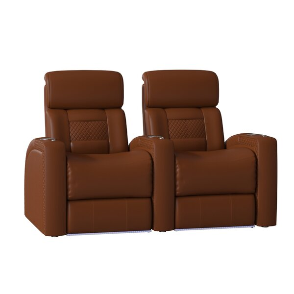 Free Shipping Diamond Stitch Home Theater Row Seating (Row Of 2)