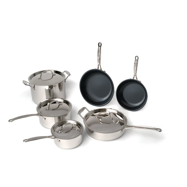 Earthchef 10-Piece Non-Stick Cookware Set by BergHOFF International