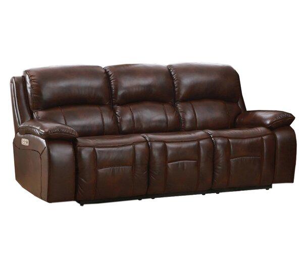 Kostka Leather Reclining Sofa by Red Barrel Studio