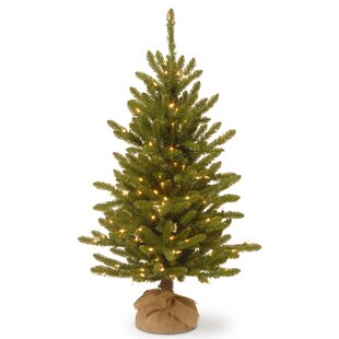 48 Green Fir Artificial Christmas Tree With 150 Clear White Lights
