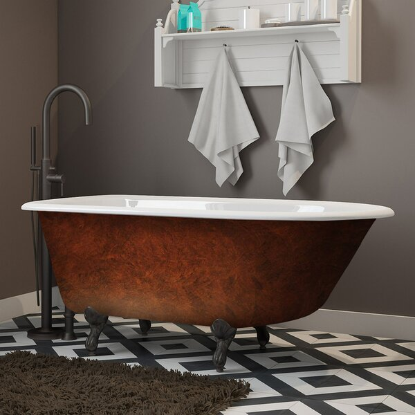 Cast Iron Clawfoot 55 x 30 Freestanding Soaking Bathtub by Cambridge Plumbing