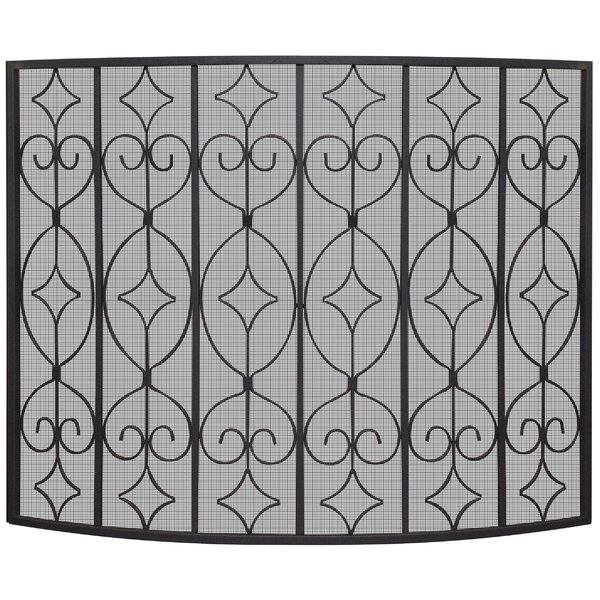 Single Panel Iron Fireplace Screens By Uniflame