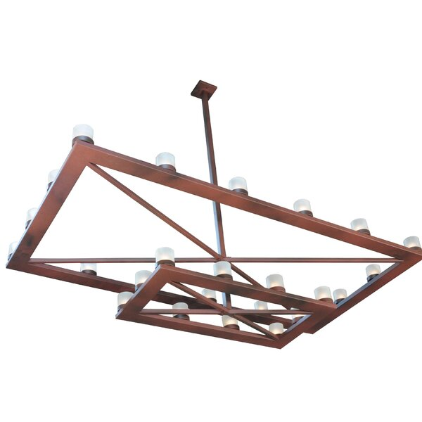 Conkling 26 - Light Unique/Statement Rectangle/Square Chandelier By Foundry Select