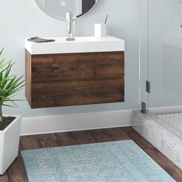 Sinope 36 Wall-Mounted Single Bathroom Vanity Set by Orren Ellis