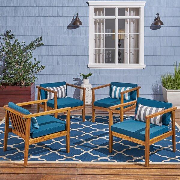 Adalhard Teak Patio Chair (Set of 4) by Ivy Bronx