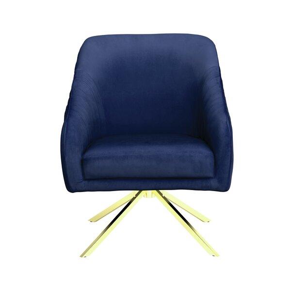 Vitya Swivel Side Chair by Everly Quinn Everly Quinn