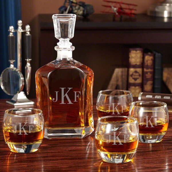 Monogrammed Uptown Personalized 5 Piece Beverage Serving Set by Home Wet Bar