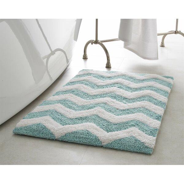 Zigzag 2 Piece Plush Bath Mat Set by Jean Pierre