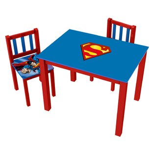 Compare & Buy Superman Kids' 3 Piece Rectangle Table and Chair Set By O'Kids Inc.