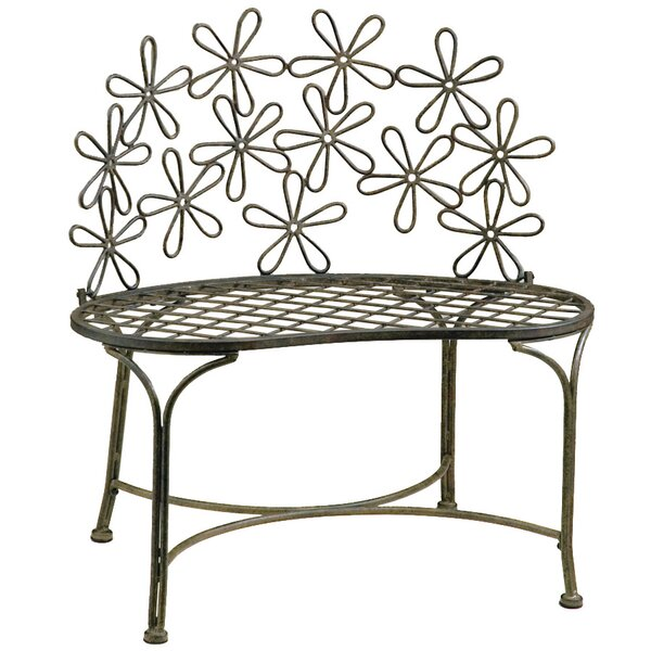 Daisy Metal Garden Bench by Deer Park Ironworks