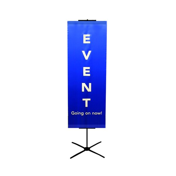 48 - 90 Vertical Adjustable Travel Banner Stand by Pinquist Tool & Die