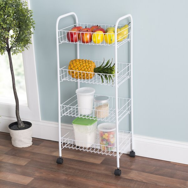 Best #1 4-Tier Kitchen Cart By Home Basics Great price