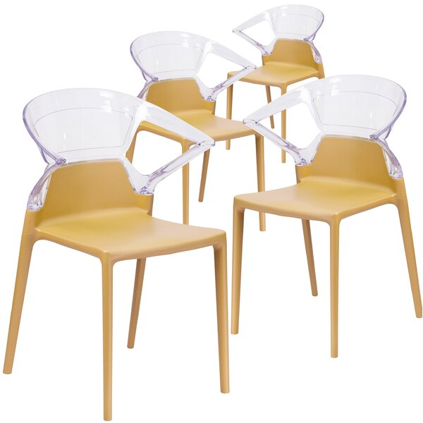 Armless Fascination Series Plastic Stacking Chair (Set of 4) by Flash Furniture