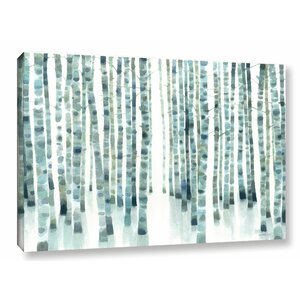 Neutral Birch Grove Graphic Art on Wrapped Canvas by Ivy Bronx