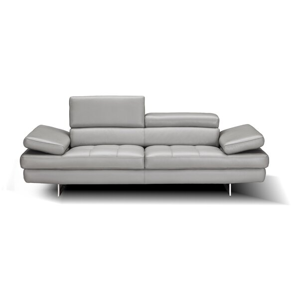 Maxwell Leather Sofa by Orren Ellis
