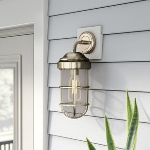 Reviews Humphries 1-Light Armed Sconce By Beachcrest Home