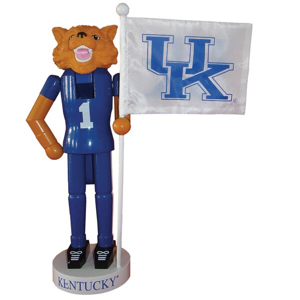 NACC Kentucky Mascot Flag Nutcracker by Santa's Workshop