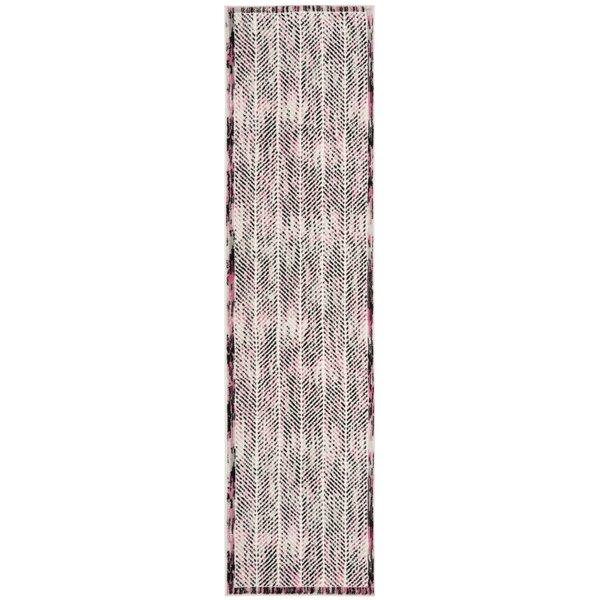 Coggin Gray/Pink Area Rug by Wrought Studio