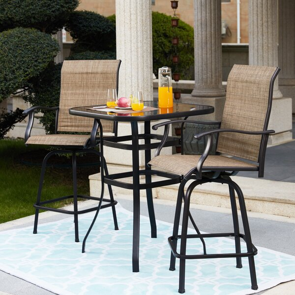 Tadwick Patio 3 Piece Bistro Set By Winston Porter