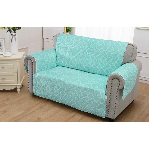 Cassette Loveseat Slipcover by Highland Dunes