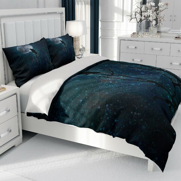 Chi Gothic Night Crows Duvet Cover Set
